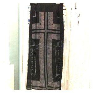 Madewell Cross-print Overlay Sample Skirt Sz M